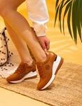 Εικόνα από Γυναικεία sneakers με τακούνι και μεταλλική λεπτομέρεια Ταμπά