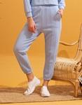 Εικόνα από Γυναικείο παντελόνι με ανάγλυφο σχέδιο Σιέλ