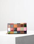 Εικόνα από Γυναικεία πορτοφόλια δερμάτινα σε συνδιασμό χρωμάτων καπιτονέ Multi