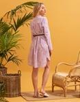Εικόνα από Γυναικείο φόρεμα πουκάμισο με ζωνάκι Λιλά