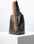 Εικόνα από Γυναικεία τσάντα ώμου & χιαστί με δίχρωμα λουριά Μαύρο