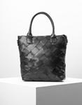 Εικόνα από Γυναικεία τσάντα χειρός με πλεκτό σχέδιο Μαύρο