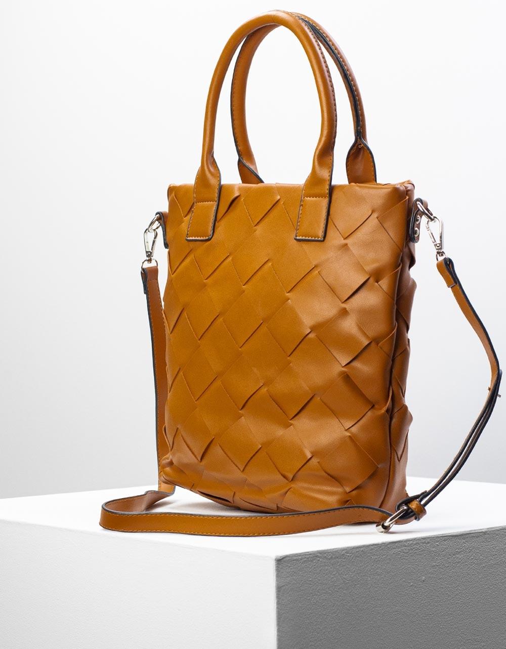 Εικόνα από Γυναικεία τσάντα χειρός με πλεκτό σχέδιο Ταμπά
