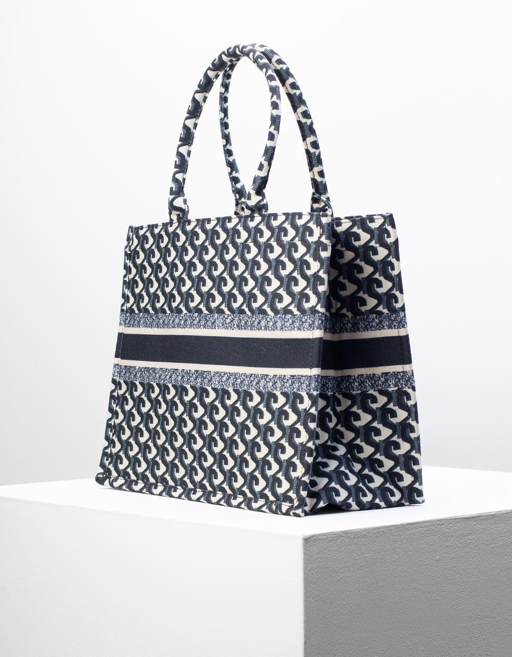 Εικόνα από Γυναικεία τσάντα χειρός με σχέδια Μαύρο