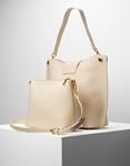Εικόνα από Γυναικεία τσάντα ώμου εσωτερικό τσαντάκι Μπεζ
