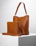 Εικόνα από Γυναικεία τσάντα ώμου εσωτερικό τσαντάκι Ταμπά