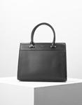 Εικόνα από Γυναικεία τσάντα χειρός με δίχρωμη λεπτομέρεια Μαύρο