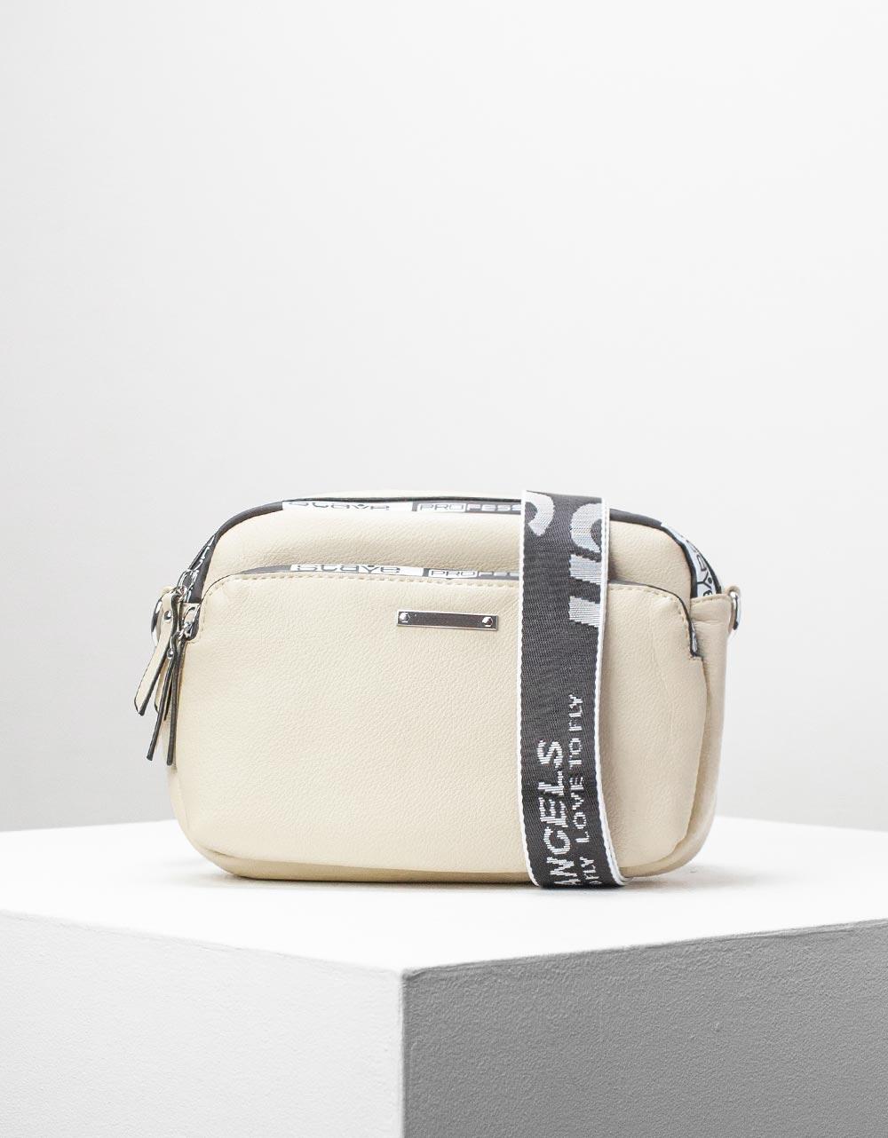 Εικόνα από Γυναικεία τσάντα ώμου & χιαστί με εξωτερική θήκη Μπεζ