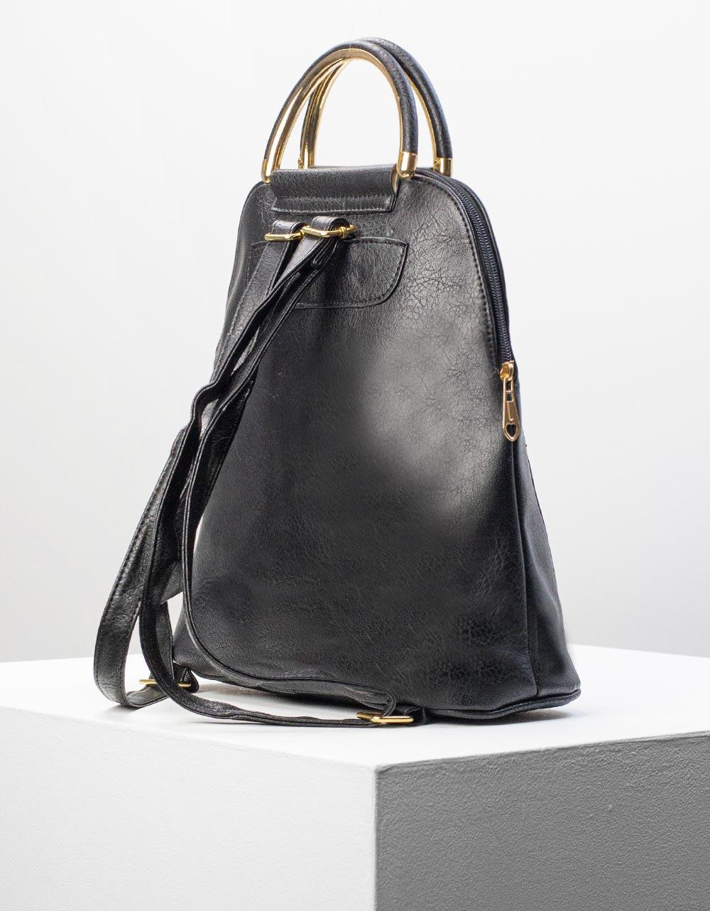 Εικόνα από Γυναικεία σακίδια πλάτης με εξωτερική θήκη Μαύρο