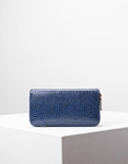 Εικόνα από Γυναικεία πορτοφόλια με κροκό σχέδιο Μπλε