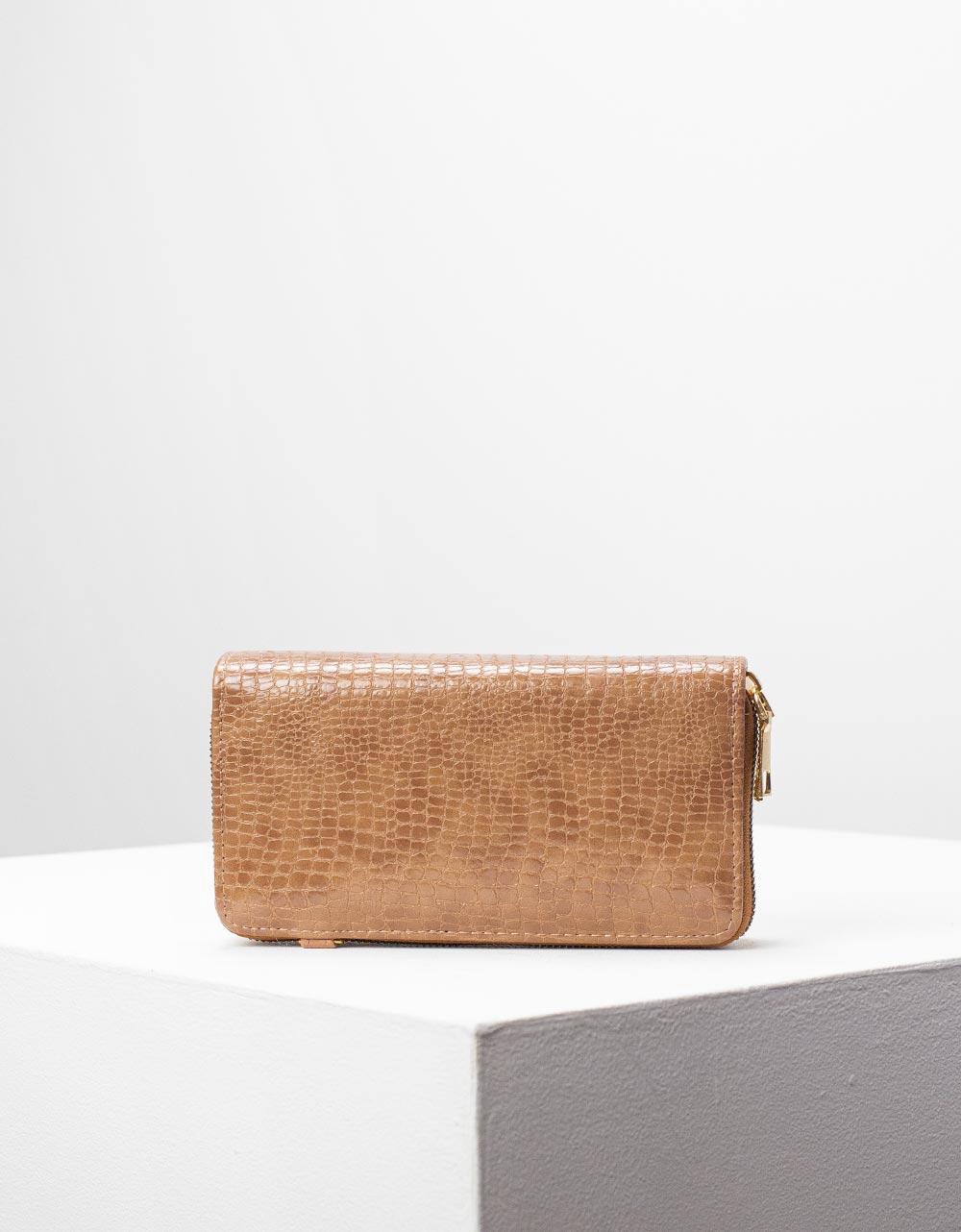 Εικόνα από Γυναικεία πορτοφόλια με κροκό σχέδιο Πούρο