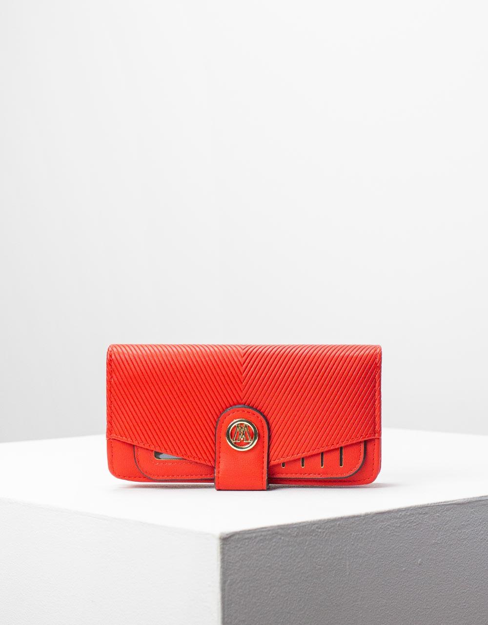 Εικόνα από Γυναικεία πορτοφόλια με καπάκι Κόκκινο