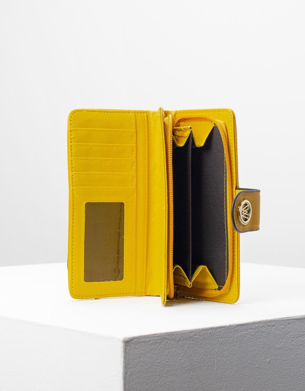 Εικόνα από Γυναικεία πορτοφόλια με καπάκι Κίτρινο