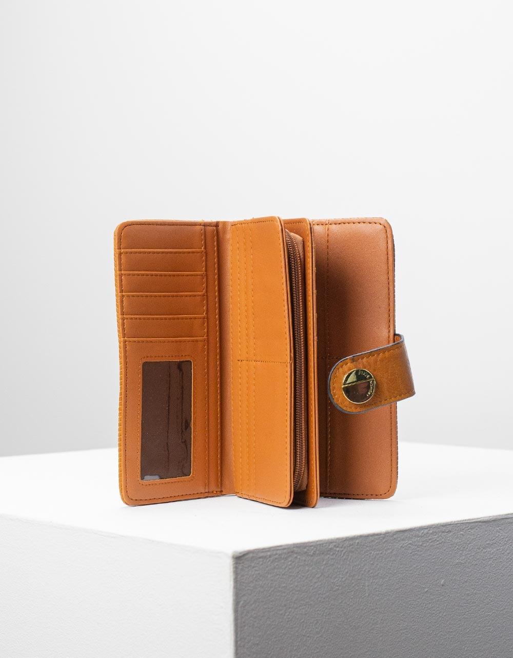 Εικόνα από Γυναικεία πορτοφόλια basic μονόχρωμα Ταμπά