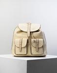Εικόνα από Γυναικεία σακίδια πλάτης πουγκί με εξωτερικές θήκες Μπεζ