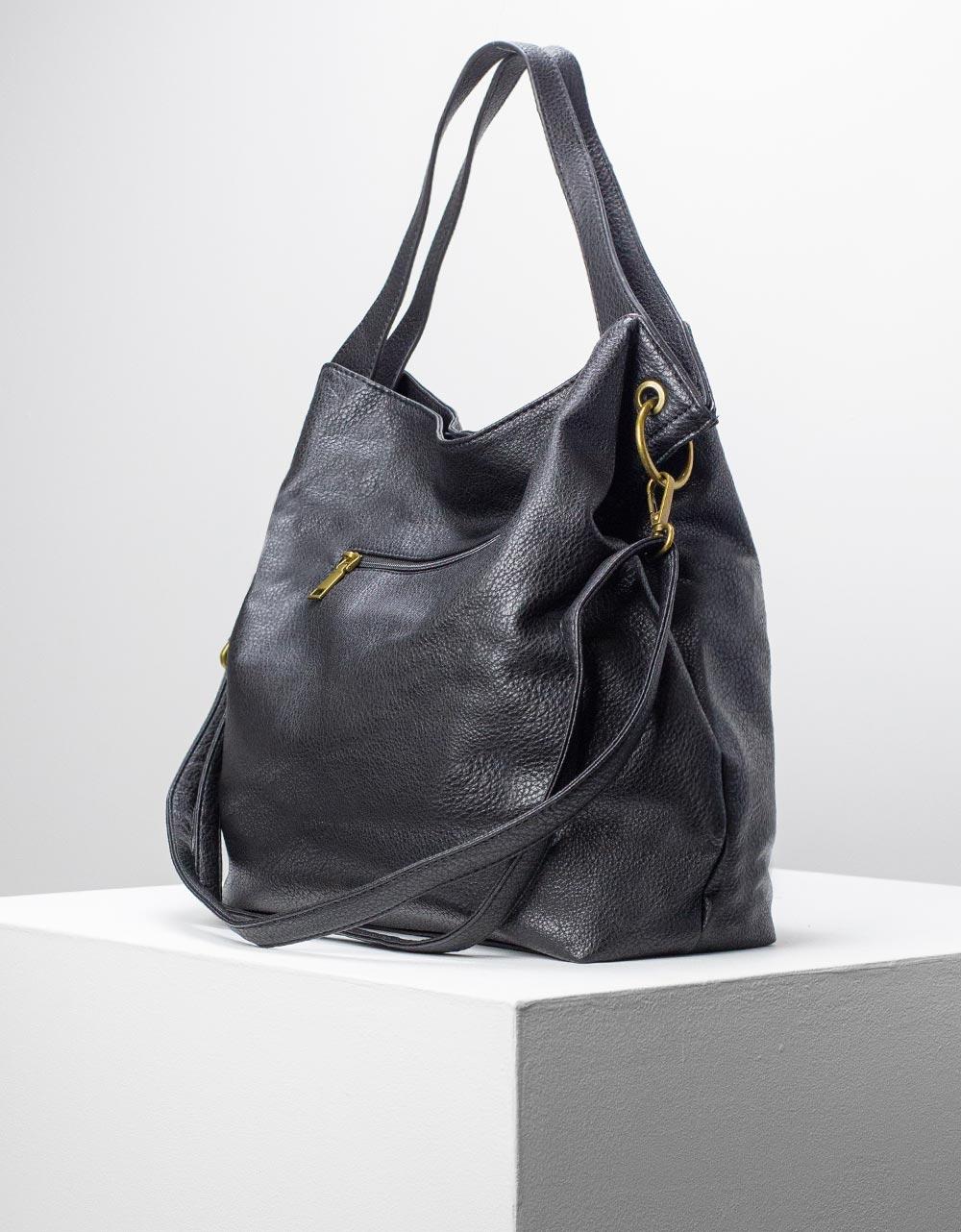 Εικόνα από Γυναικείες τσάντες χειρός μονόχρωμη Μαύρο