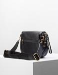 Εικόνα από Γυναικεία τσάντα ώμου & χιαστί με ανάγλυφο σχέδιο Μαύρο
