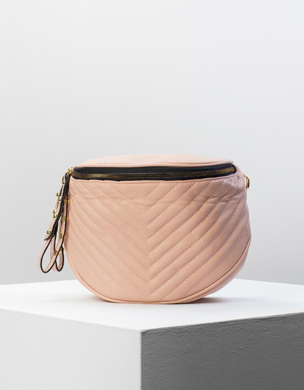 Εικόνα από Γυναικεία τσάντα ώμου & χιαστί με ανάγλυφο σχέδιο Ροζ