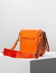 Εικόνα από Γυναικεία τσάντα ώμου & χιαστί με ανάγλυφο σχέδιο Πορτοκαλί