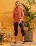 Εικόνα από Γυναικείο πουκάμισο με πουά σχέδιο Σομόν