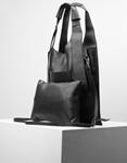 Εικόνα από Γυναικεία τσάντα χειρός με εσωτερικό τσαντάκι Μαύρο