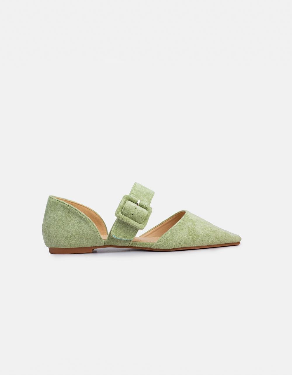 Εικόνα από Γυναικεία flat μπαλαρίνες Πράσινο