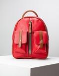Εικόνα από Γυναικεία σακίδια πλάτης με εξωτερικά τσεπάκια Κόκκινο