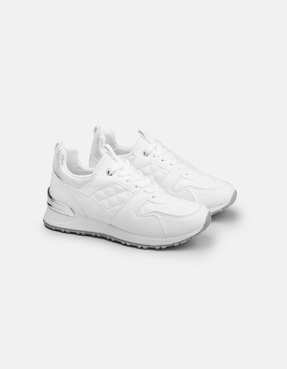 Εικόνα από Γυναικεία sneakers με καπιτονέ λεπτομέρεια Λευκό