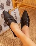 Εικόνα από Γυναικεία mules flat μυτερά Μαύρο