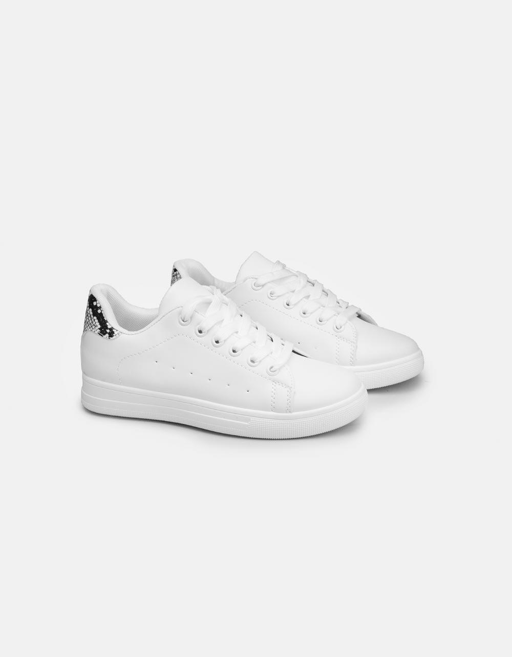 Εικόνα από Γυναικεία sneakers basic με διχρωμία Λευκό/Multi