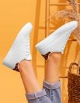 Εικόνα από Γυναικεία sneakers basic με διχρωμία Λεοπάρ