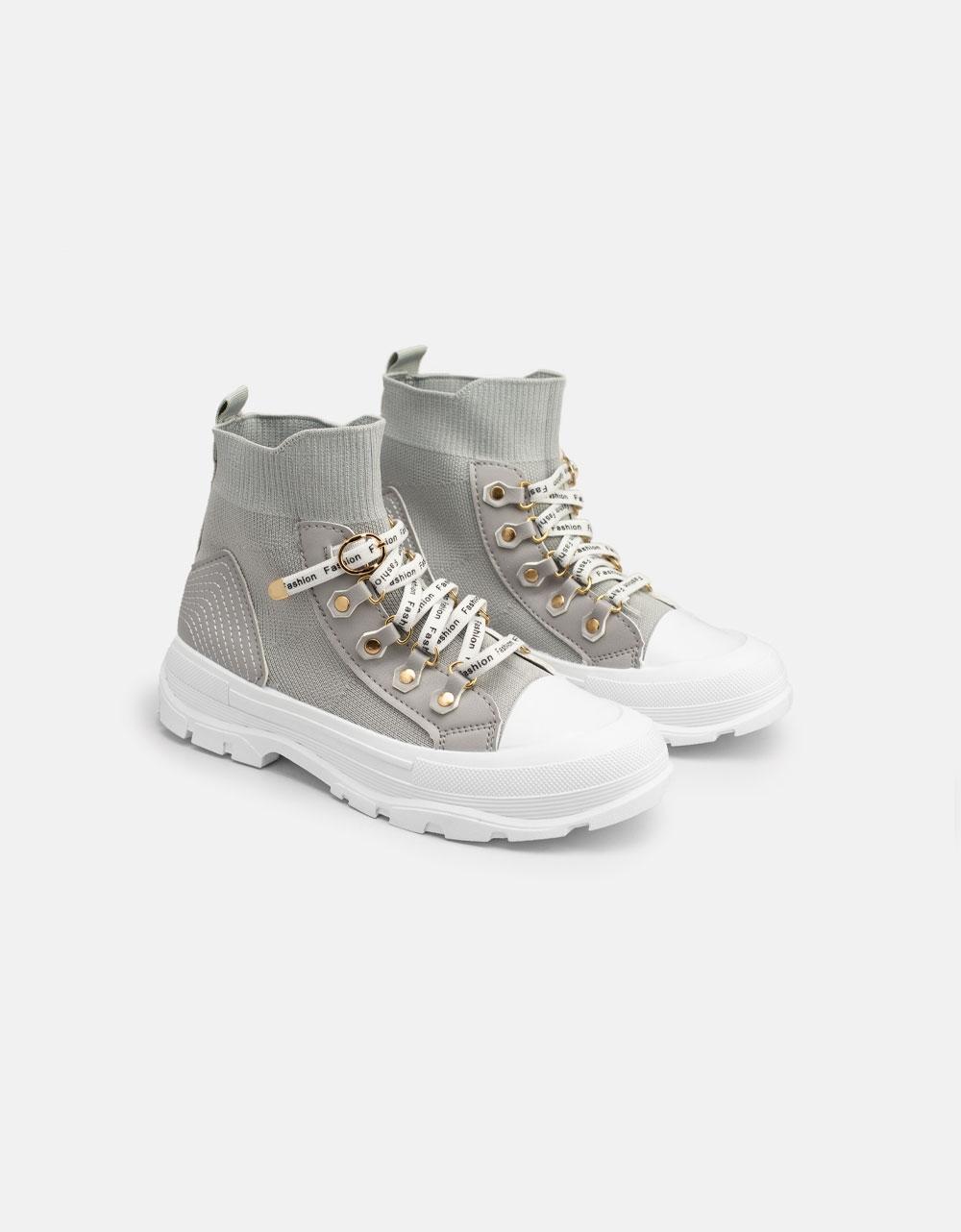 Εικόνα από Γυναικεία Chunky sneakers slip on Γκρι