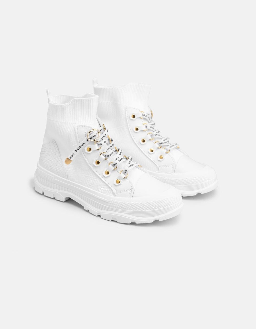 Εικόνα από Γυναικεία Chunky sneakers slip on Λευκό