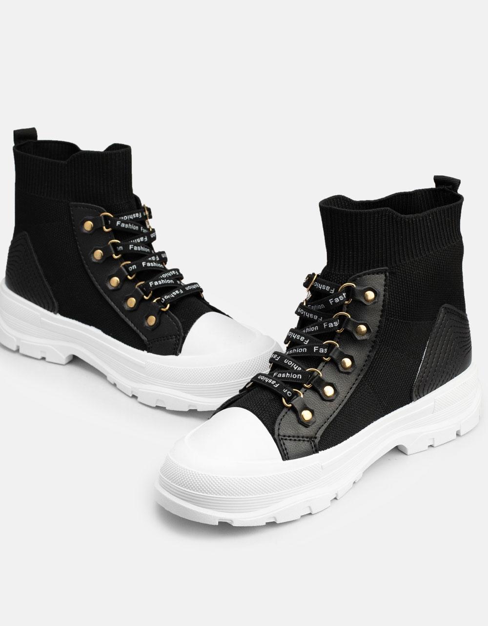 Εικόνα από Γυναικεία Chunky sneakers slip on Μαύρο