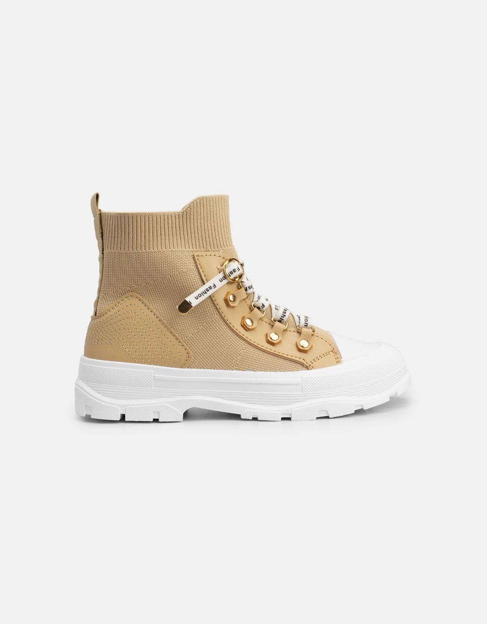 Εικόνα από Γυναικεία Chunky sneakers slip on Μπεζ