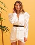 Εικόνα από Γυναικεία σετ ρούχων φούστα & σακάκι Λευκό