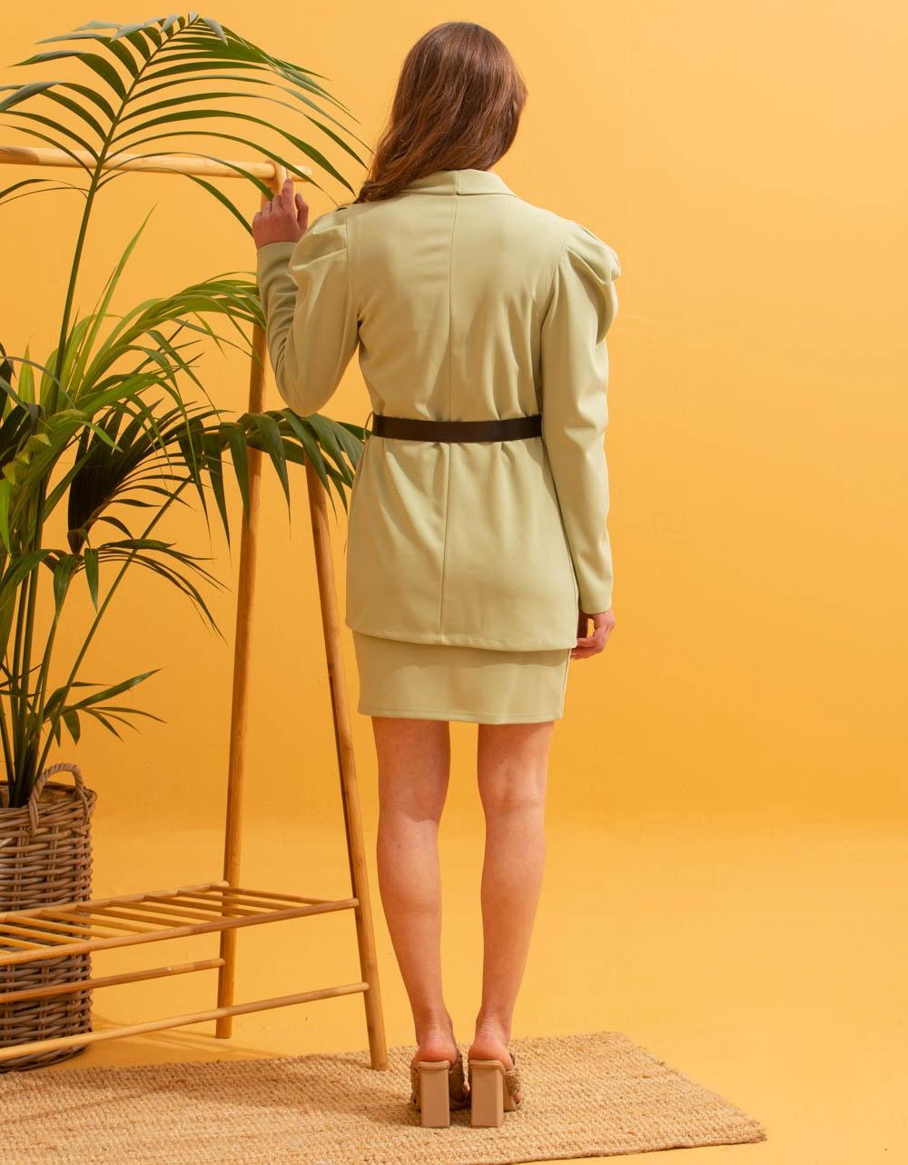 Εικόνα από Γυναικεία σετ ρούχων φούστα & σακάκι Πράσινο