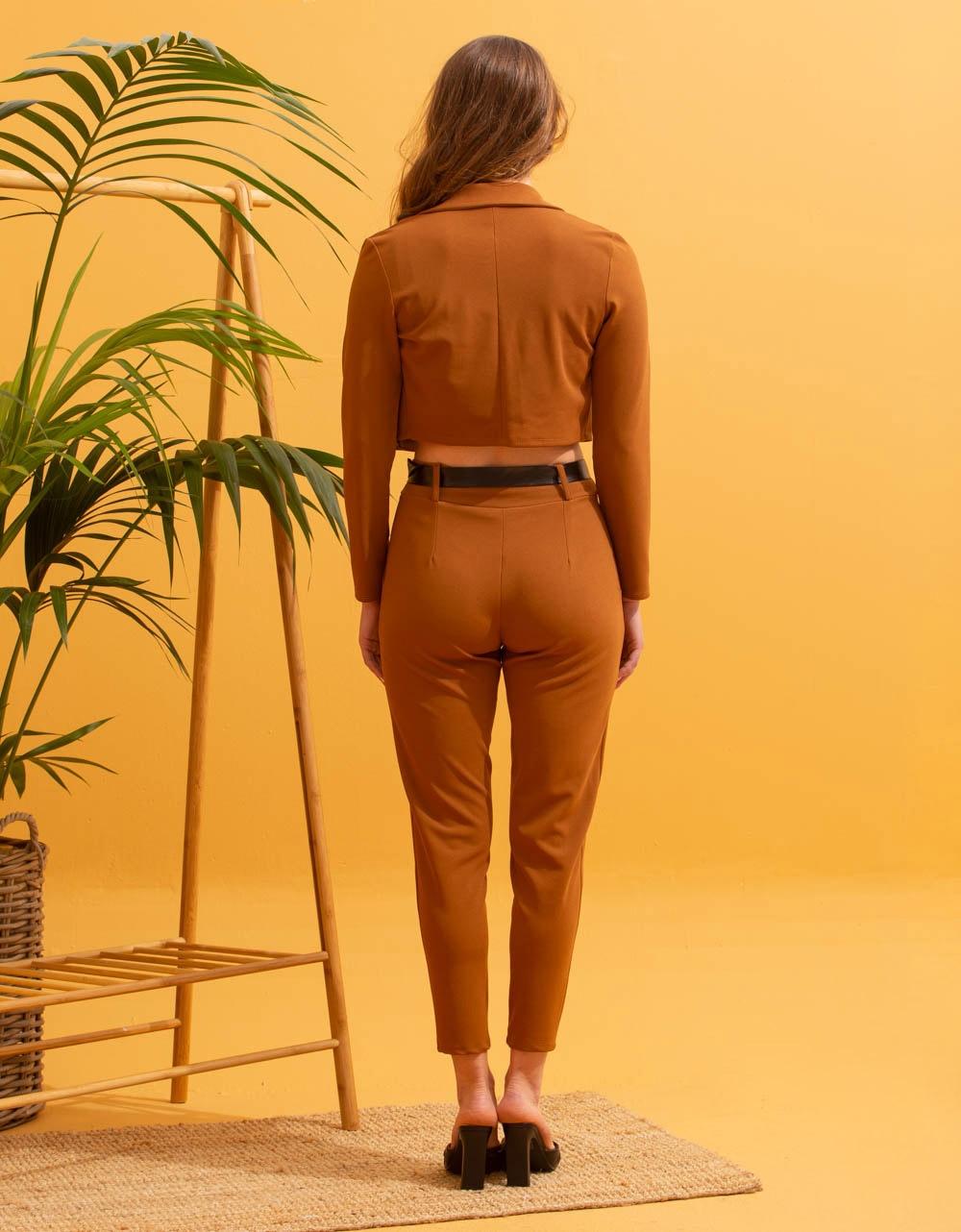 Εικόνα από  Γυναικεία σετ ρούχων total look Καφέ