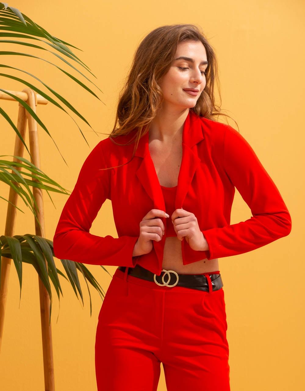 Εικόνα από  Γυναικεία σετ ρούχων total look Κόκκινο