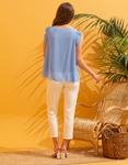 Εικόνα από Γυναικεία μπλούζα see through με αξεσουάρ Σιέλ
