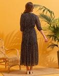 Εικόνα από Γυναικείο maxi φόρεμα με βούλες Μαύρο