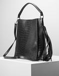 Εικόνα από Γυναικεία τσάντα ώμου & χιαστί με πορτοφόλι Μαύρο
