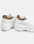 Εικόνα από Γυναικεία sneakers με λεπτομέρεια λεοπάρ Λευκό