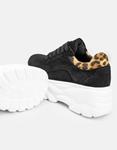 Εικόνα από Γυναικεία sneakers με λεπτομέρεια λεοπάρ Μαύρο