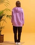 Εικόνα από Γυναικείο πανοφώρι ελαφρύ με κουκούλα Λιλά
