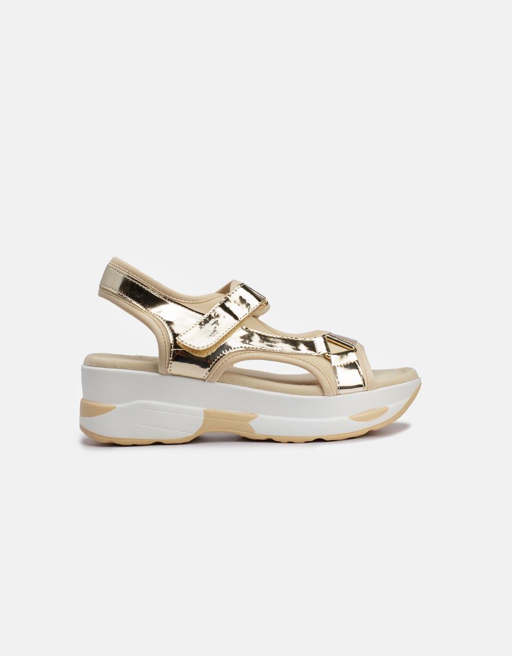 Εικόνα από Γυναικεία σανδάλια με velcro Χρυσό