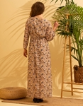 Εικόνα από Γυναικείο maxi φόρεμα με floral σχέδιο Κίτρινο