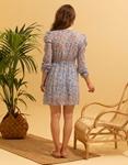 Εικόνα από Γυναικείο midi φόρεμα με puff sleeve Σιέλ