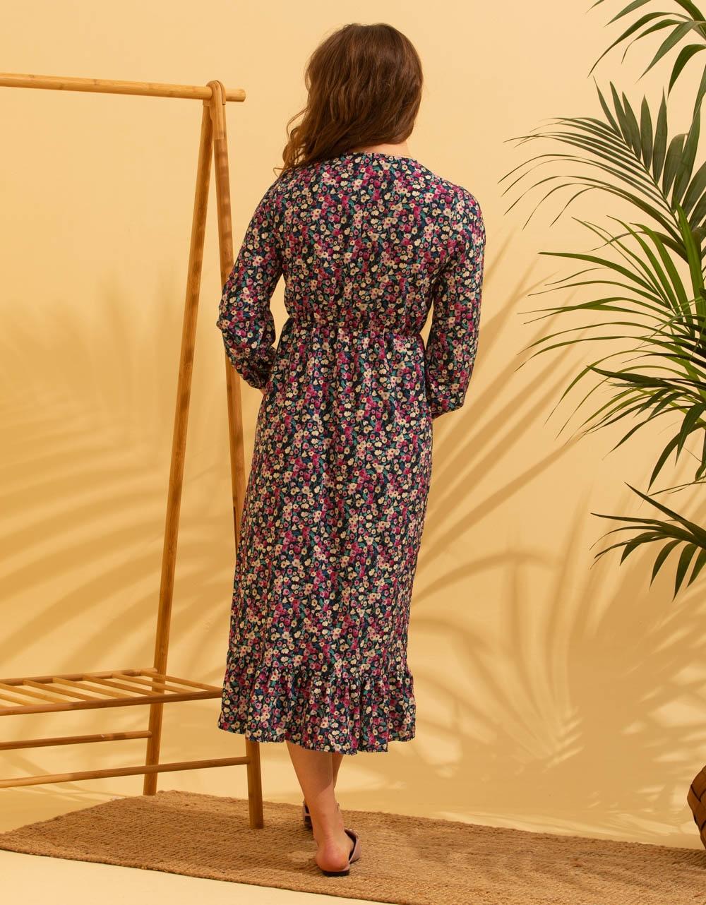 Εικόνα από Γυναικείο φόρεμα floral μάξι Κόκκινο