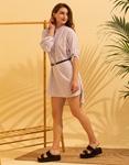 Εικόνα από Γυναικείο φορέμα μίνι με σχέδιο Λιλά